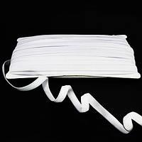 Резинка для бретель с силиконом 1 см.  белая.