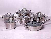 Набор посуды Kamille из нержавеющей стали 12 предметов Код: 4027S