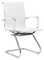 Офисный стул-кресло на колесиках белого цвета Classic white