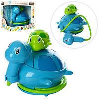 Игра 20002 (24шт) для купания, черепаха,22-17см, душ, на бат-ке, в кор-ке, 23-21,5-21,5см