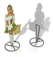 Ростовая фигура на металлической ноге КОМПОЗИТ 3 мм (Ламинация: Без ламинации; Вид: Односторонний)