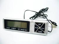 Автомобильные часы с термометром vst-7066, внутренний и наружный датчик температуры, будильник, 12в