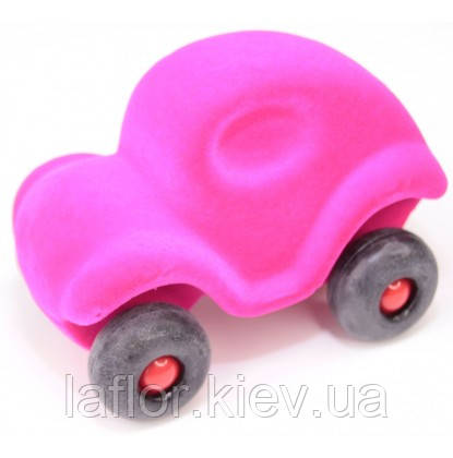 Игрушка  из каучука Rubbabu машинка розовая