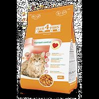 Club 4 Paws сухий корм для дорослих котів м'ясні крокети з ефектом виведення шерсті