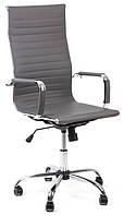 Офисный стул-кресло на колесиках серого цвета Exclusive grey