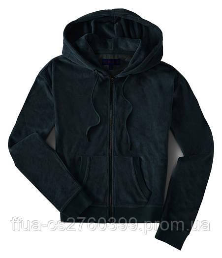 Толстовка куртка спортивная женская черная велюровая с капюшоном костюм Aeropostale