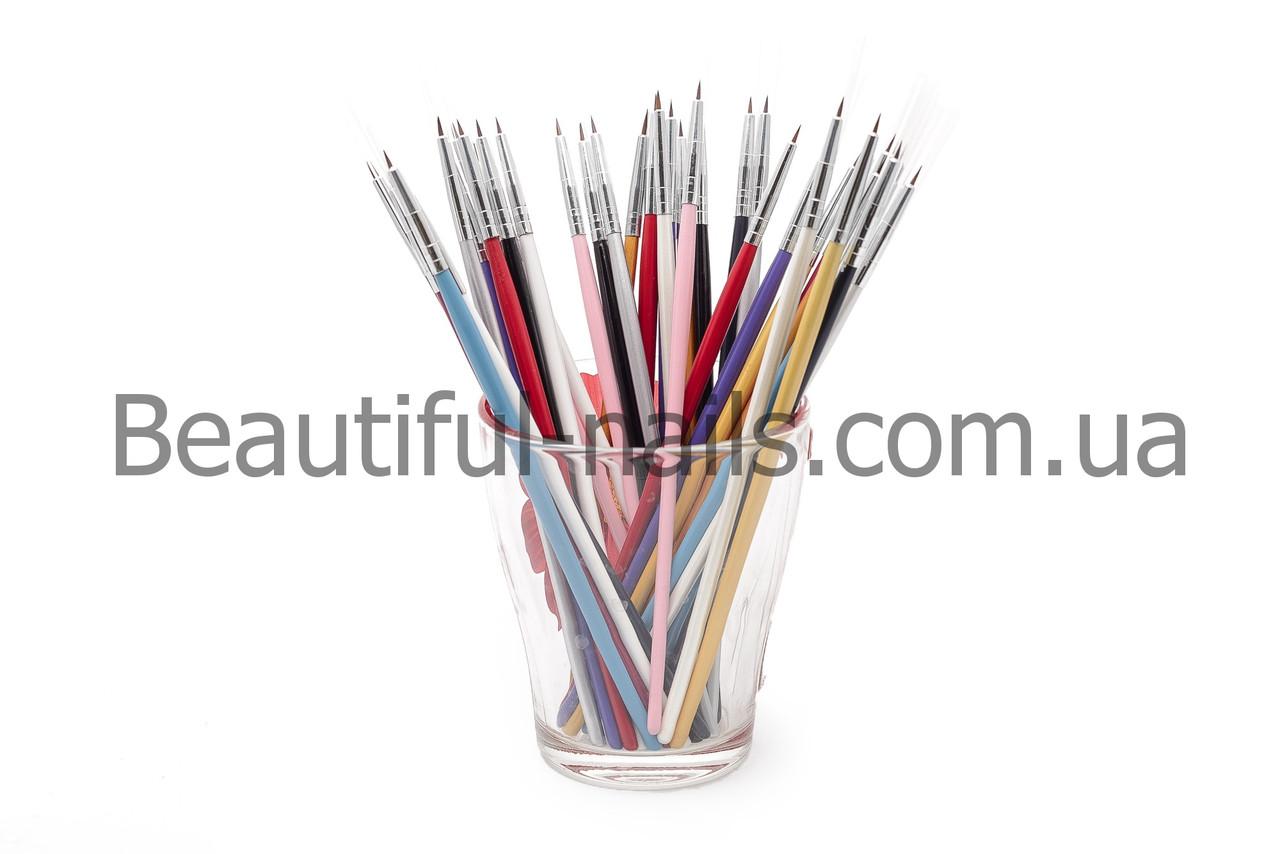 Набор кистей для рисования ногтей 12 штук