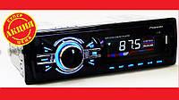 Автомагнитола Pioneer 1138 ISO - MP3+Usb+Sd+Fm+Aux+ пульт (4x50W), фото 1