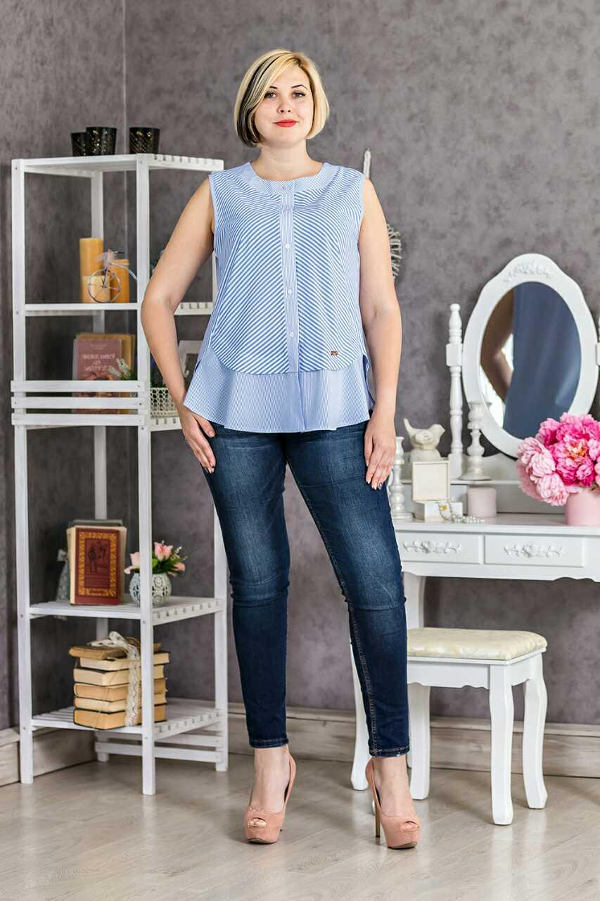 Приваблива повсякденна блуза вільного фасону