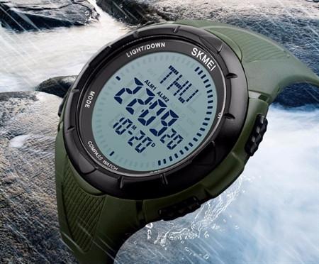 Часы наручные с компасом Skmei 1232 Хаки