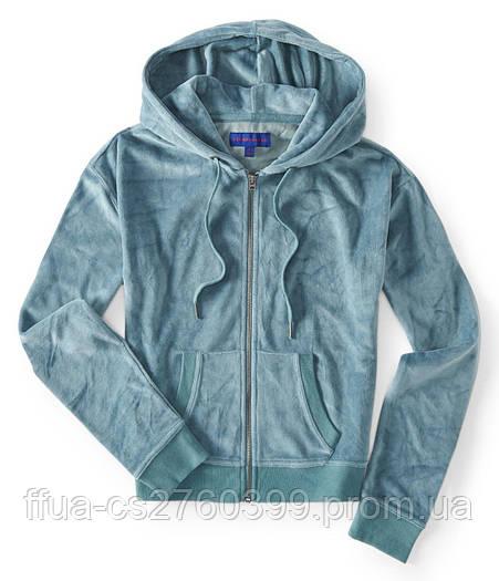 Толстовка куртка спортивная женская серая велюровая с капюшоном костюм Aeropostale