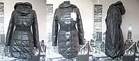 Пуховик женский черного цвета