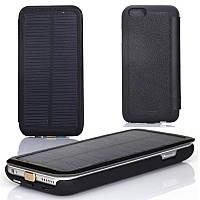 Smart Battery Case Чехол книжка с солнечной батареей для iPhone 6 6S Plus Black 4200 mAh