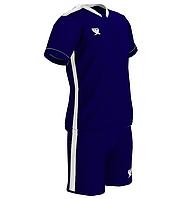 Комплект детской футбольной формы SWIFT PRIORITET Темно-Сине-белая (4XS/134 см)