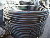 Труба полиэтиленовая  63 мм 6 атм черно синяя