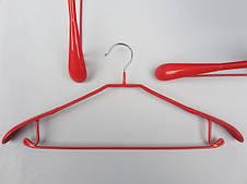 Плечики металлические в силиконовом покрытии для тяжелой верхней одежды