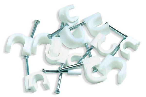 Скобы крепежные пластиковые
