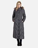 LONDON FOG фирменное длинный пуховик р.44-46-UA S-M-USA макси пальто на пуху из США