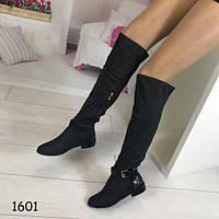Высокие женские сапоги черные АВ-1601