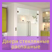 Двери стеклянные распашные