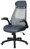 Кресло офисное для руководителя Briz 2 grey серое, Tilt с регулировкой качания Бесплатная доставка
