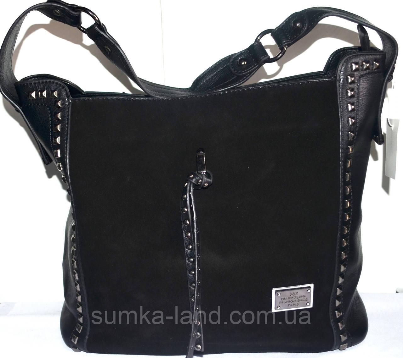 c69ffff3eec6 Женская замшевая сумка на два отдела черная 31*30: продажа, цена в ...