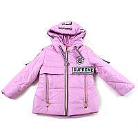 """Куртка для дівчинки """"Oshen"""" (Зріст 122(38), Світло-рожевий)"""