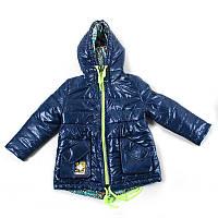 """Куртка для дівчинки """"Oshen"""" двухстороння (Зріст 116(36), Синій)"""