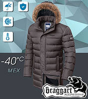 Красивая мужская зимняя куртка с капюшоном на тинсулейте Braggart  Размеры 46, 50