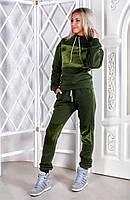 Утепленный женский спортивный костюм / трехнитка, плюш  / Украина