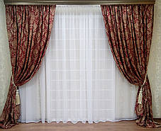 """Комплект штор """"Жан Бордо"""" (Жаккард вышивка), фото 2"""