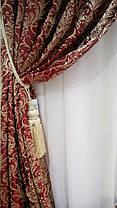 """Комплект штор """"Жан Бордо"""" (Жаккард вышивка), фото 3"""