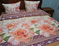 """Комплект постельного белья семейный """"розы"""",ранфорс."""