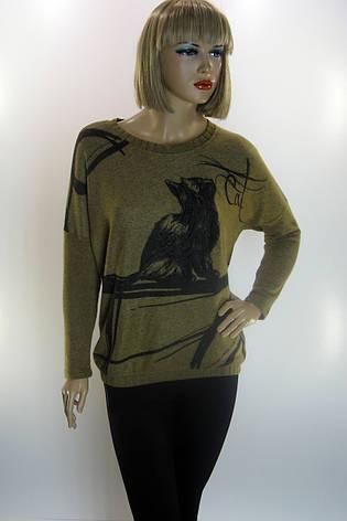 Жіноча кофта з котиком Estasi, фото 2