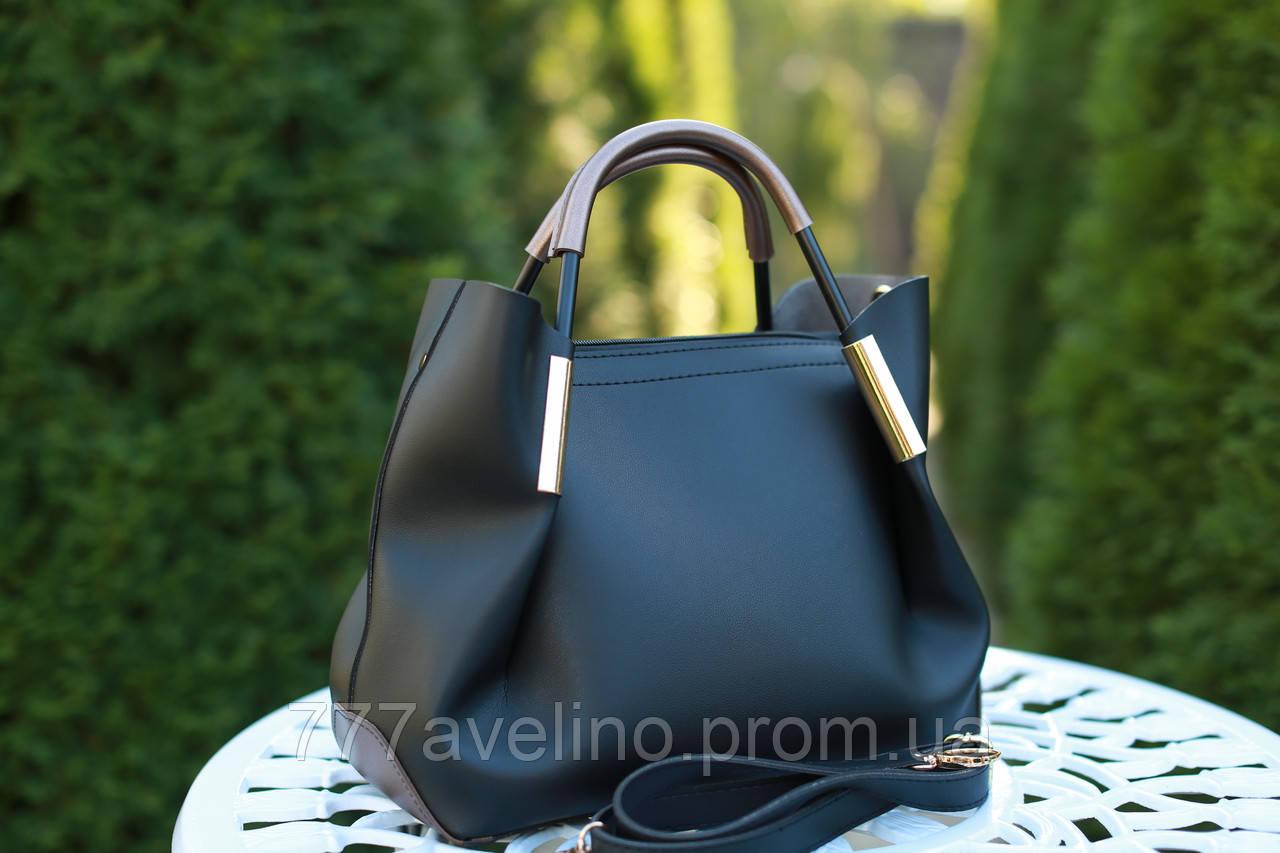 6a840357ea88 Сумка женская стильная черная - Интернет магазин Модный Стиль в Харькове