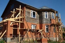 облицовка кирпичом деревянного дома