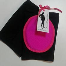 Наколенники с накладкой из поролона Черный с розовым, 7-8 лет