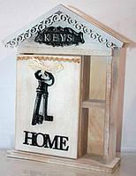 """Настенная ключница """"Home"""" Размеры: 26-19-6см."""