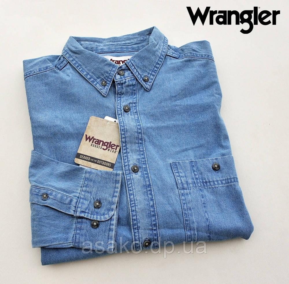 Мужская джинсовая рубашка Wrangler®(США) (XL)  100% хлопок  Оригинал из США 4bda22f7d38