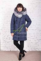 Модное женское пальто с мехом сезона зима 2017-2018 - (модель кт-37)