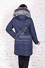 Модное женское пальто с мехом сезона зима 2017-2018 - (модель кт-37), фото 3