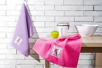 Комплект вафельных полотенец (2 шт.) с нашивкой IDEIA