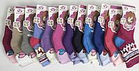 """Махровые термо носки """"Весна"""". Бантик. Для девочек 2-3 лет."""