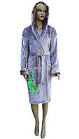 Халат жіночий махровий з капюшоном Polar № 77790, фото 1