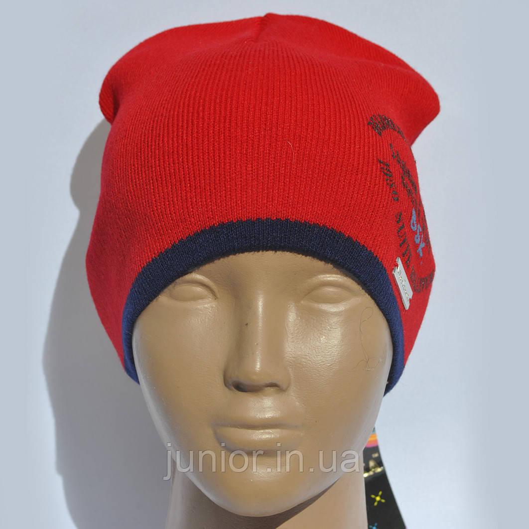 Яскрава демісезонна шапка для хлопчика.Bos'ka.Польща.
