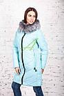 Брендовое пальто с мехом для женщин сезона зима 2017-2018 - (модель кт-167), фото 5