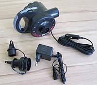 Мощный электрический насос Intex 66622 (220 вольт + 12 вольт + Аккумулятор)