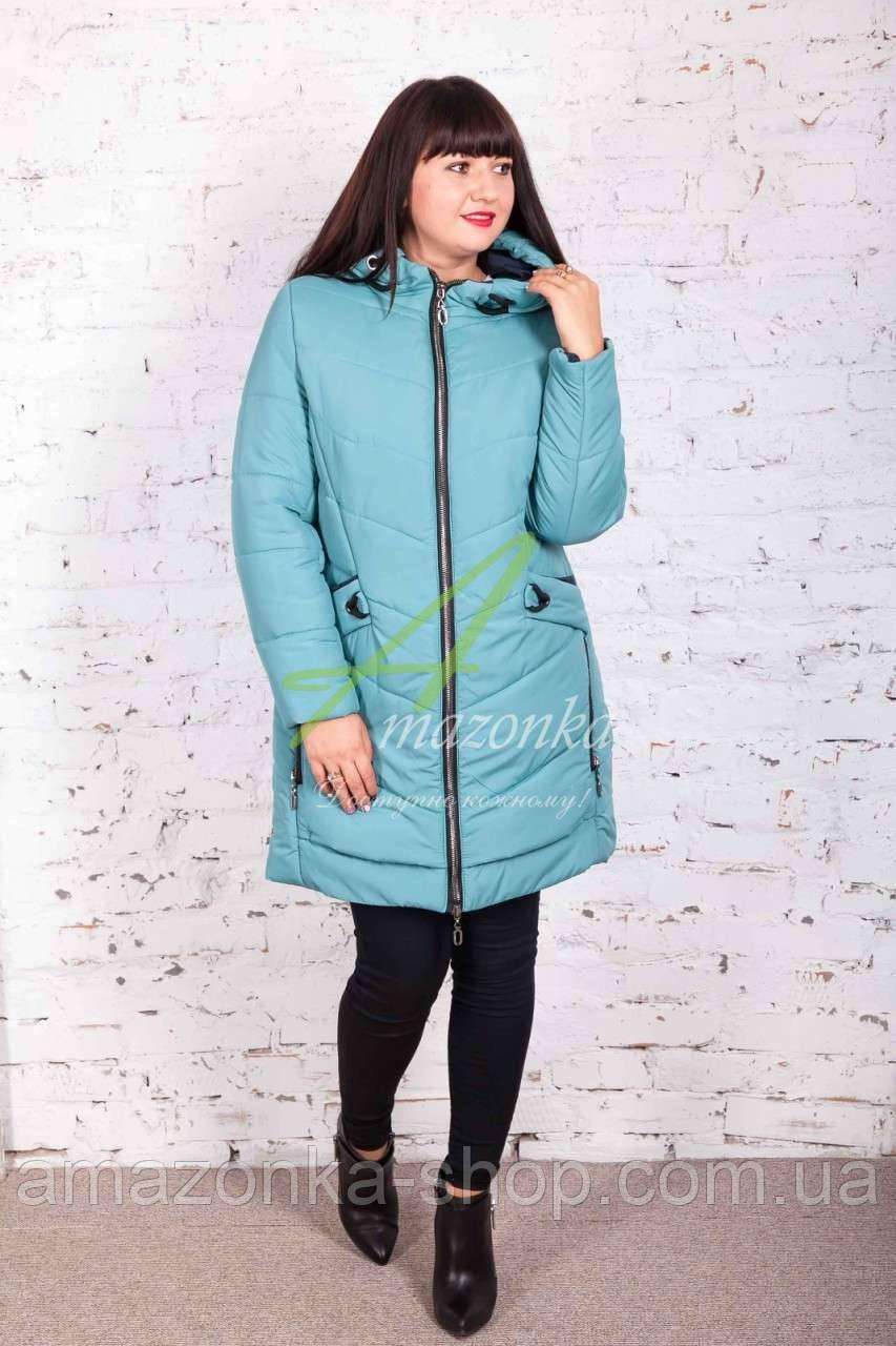 Пальто Батал для женщин сезона зима 2017-2018 - (модель кт-171)