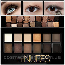 Палитра теней The Nudes The earth 12 color eye shadow (запеченные matte/shimmer), фото 3