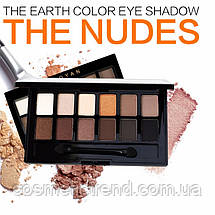 Палитра теней The Nudes The earth 12 color eye shadow (запеченные matte/shimmer), фото 2